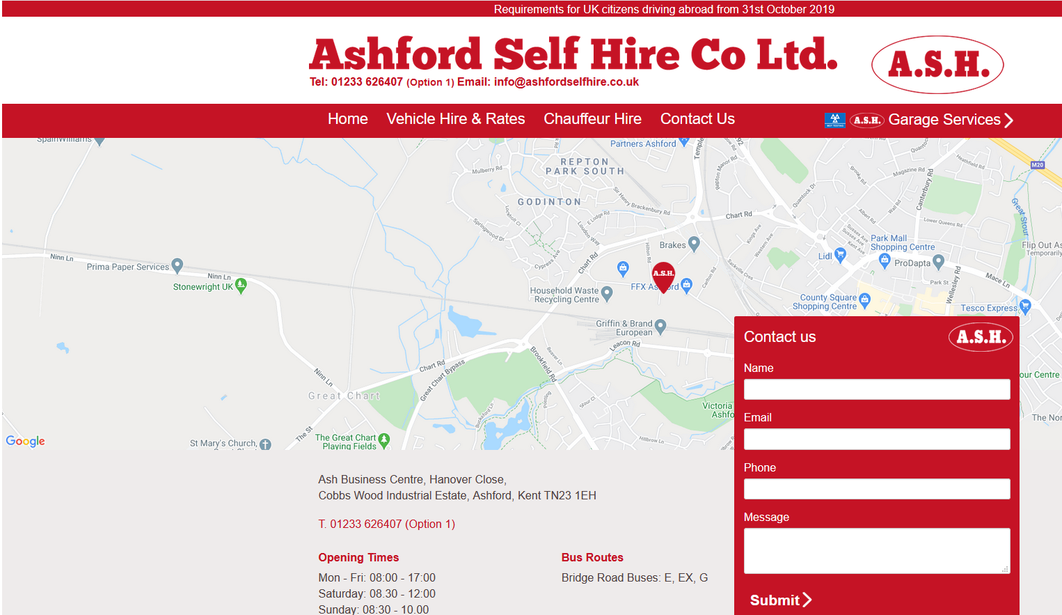 Ashford Self Hire Co Ltd.